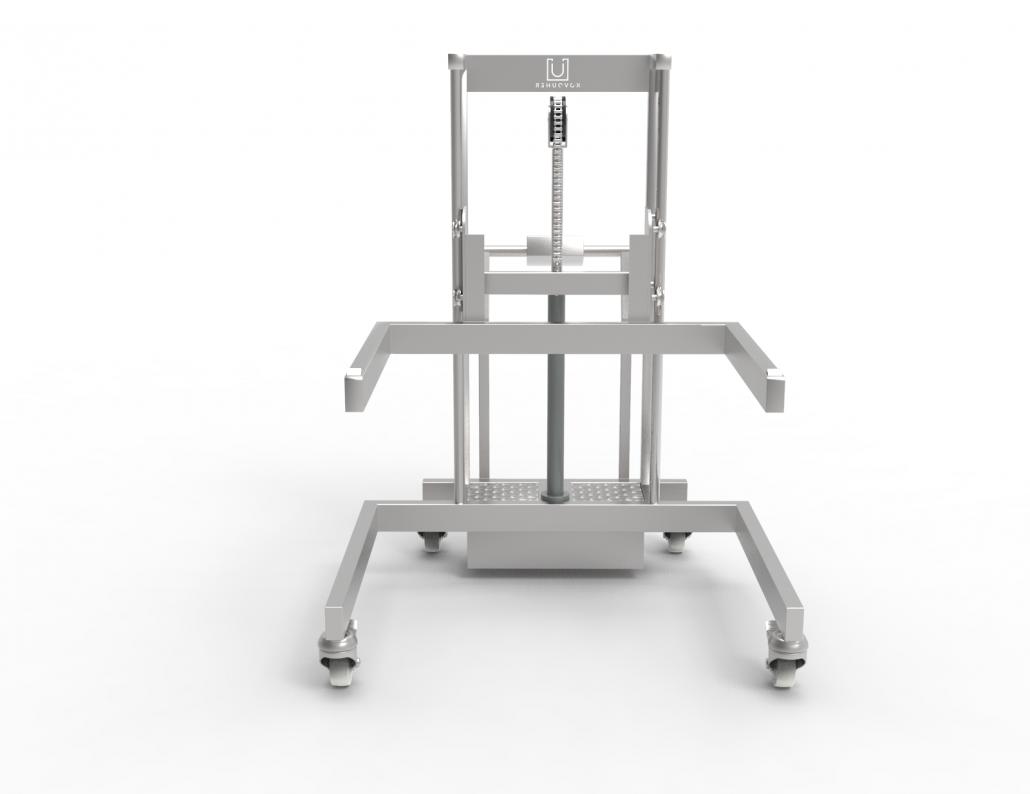 Celo-nerezový elektrohydraulický vozík